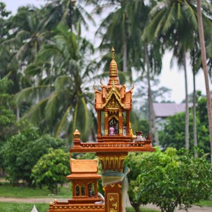 bangkok, tajlandia, azja po zmroku, domek dla duchów