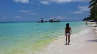 plaża, Filipiny, Filipinka